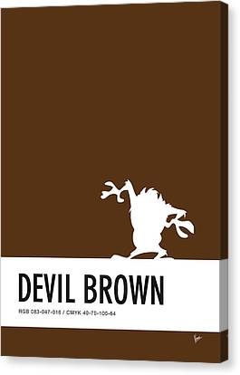 No16 My Minimal Color Code Poster Tasmanian Devil Canvas Print