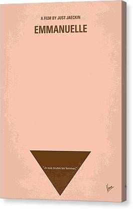 No160 My Emmanuelle Minimal Movie Poster Canvas Print by Chungkong Art
