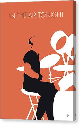 Drummer Canvas Print - No163 My Phil Collins Minimal Music Poster by Chungkong Art