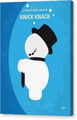 No172 My Knick Knack Minimal Movie Poster Canvas Print by Chungkong Art