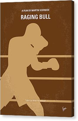 No174 My Raging Bull Minimal Movie Poster Canvas Print by Chungkong Art