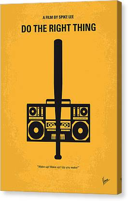 Movie Art Canvas Print - No179 My Do The Right Thing Minimal Movie Poster by Chungkong Art