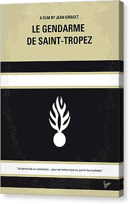 60s Canvas Print - No186 My Le Gendarme De Saint-tropez Minimal Movie Poster by Chungkong Art