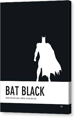 No20 My Minimal Color Code Poster Batman Canvas Print
