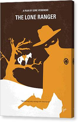 No202 My The Lone Ranger Minimal Movie Poster Canvas Print