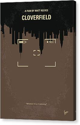 No203 My Cloverfield Minimal Movie Poster Canvas Print