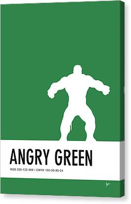 No22 My Minimal Color Code Poster Hulk Canvas Print by Chungkong Art