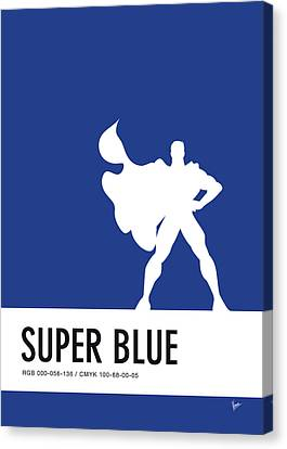 No23 My Minimal Color Code Poster Superman Canvas Print by Chungkong Art