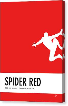 No24 My Minimal Color Code Poster Spiderman Canvas Print