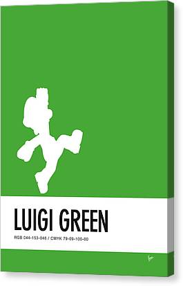 No34 My Minimal Color Code Poster Luigi Canvas Print