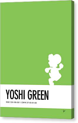 No36 My Minimal Color Code Poster Yoshi Canvas Print by Chungkong Art