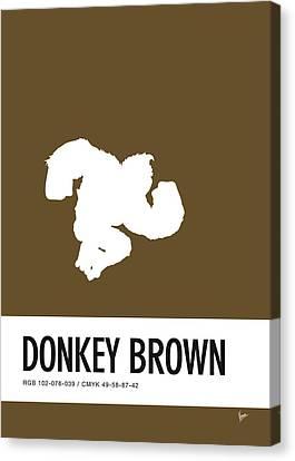 No37 My Minimal Color Code Poster Donkey Kong Canvas Print
