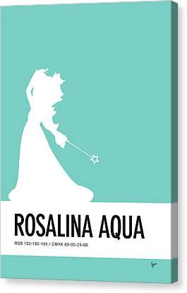 No39 My Minimal Color Code Poster Rosalina Canvas Print