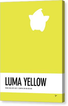 No40 My Minimal Color Code Poster Luma Canvas Print