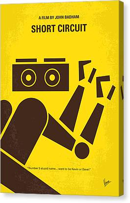 No470 My Short Circuit Minimal Movie Poster Canvas Print