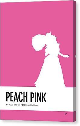 No44 My Minimal Color Code Poster Peach Canvas Print