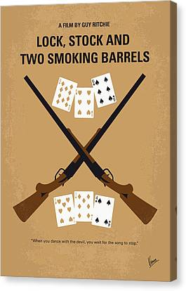 No441 My Lock Stock And Two Smoking Barrels Minimal Movie Poster Canvas Print