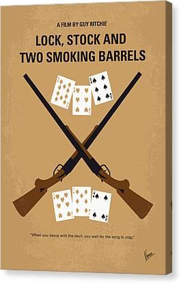 No441 My Lock Stock And Two Smoking Barrels Minimal Movie Poster Canvas Print