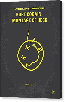 No448 My Montage Of Heck Minimal Movie Poster Canvas Print