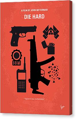 No453 My Die Hard Minimal Movie Poster Canvas Print by Chungkong Art