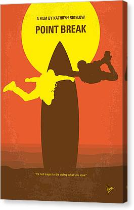No455 My Point Break Minimal Movie Poster Canvas Print by Chungkong Art