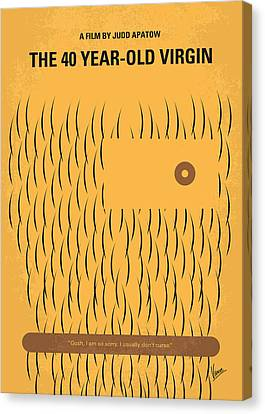 No465 My The 40 Year Old Virgin Minimal Movie Poster Canvas Print by Chungkong Art