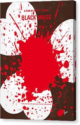 No471 My Black Mass Minimal Movie Poster Canvas Print