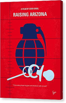 No477 My Raising Arizona Minimal Movie Poster Canvas Print by Chungkong Art