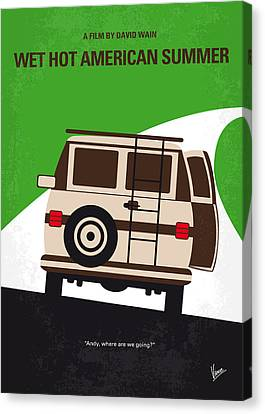 No481 My Wet Hot American Summer Minimal Movie Poster Canvas Print by Chungkong Art