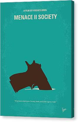 Lawson Canvas Print - No484 My Menace II Society Minimal Movie Poster by Chungkong Art