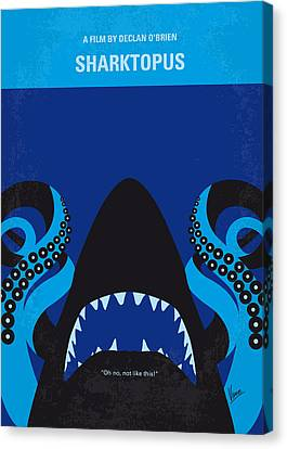 Hammerhead Shark Canvas Print - No485 My Sharktopus Minimal Movie Poster by Chungkong Art