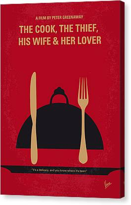 No487 My The Cook The Thief His Wife And Her Lover Minimal Movie Canvas Print