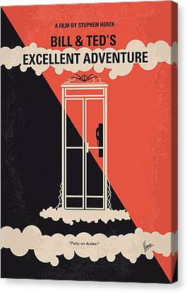 No490 My Bill And Teds Excellent Adventure Minimal Movie Poster Canvas Print by Chungkong Art