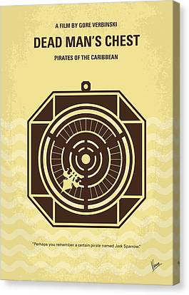 No494-2 My Pirates Of The Caribbean II Minimal Movie Poster Canvas Print