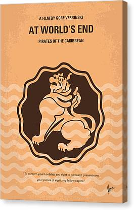 No494-3 My Pirates Of The Caribbean IIi Minimal Movie Poster Canvas Print by Chungkong Art