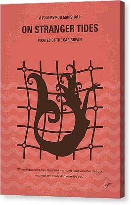 No494-4 My Pirates Of The Caribbean Iv Minimal Movie Poster Canvas Print by Chungkong Art
