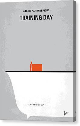 Training Canvas Print - No497 My Training Day Minimal Movie Poster by Chungkong Art