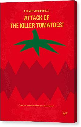 No499 My Attack Of The Killer Tomatoes Minimal Movie Poster Canvas Print