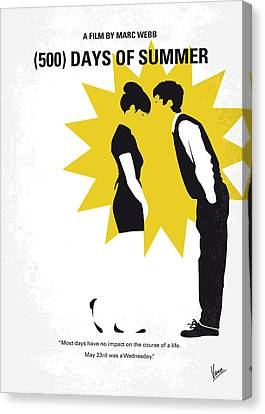 No500 My 500 Days Of Summer Minimal Movie Poster Canvas Print by Chungkong Art