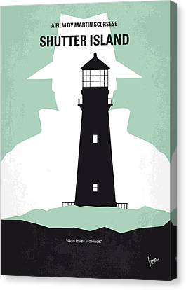 No513 My Shutter Island Minimal Movie Poster Canvas Print