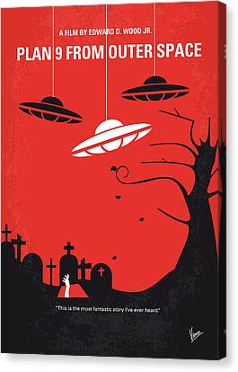 No518 My Plan 9 From Outer Space Minimal Movie Poster Canvas Print by Chungkong Art
