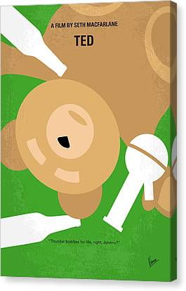 No519 My Ted Minimal Movie Poster Canvas Print by Chungkong Art