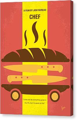 No524 My Chef Minimal Movie Poster Canvas Print