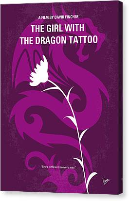 Magazine Art Canvas Print - No528 My The Girl With The Dragon Tattoo Minimal Movie Poster by Chungkong Art