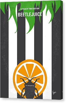 No531 My Beetlejuice Minimal Movie Poster Canvas Print