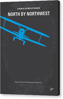 No535 My North By Northwest Minimal Movie Poster Canvas Print by Chungkong Art