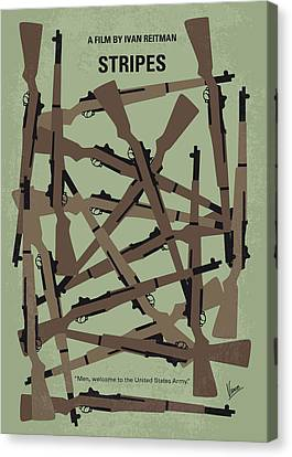 No542 My Stripes Minimal Movie Poster Canvas Print by Chungkong Art