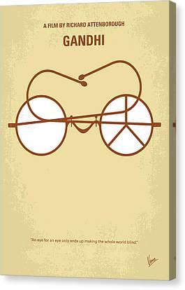Philosophy Canvas Print - No543 My Gandhi Minimal Movie Poster by Chungkong Art