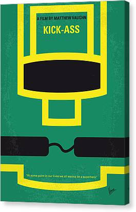 No544 My Kick-ass Minimal Movie Poster Canvas Print by Chungkong Art