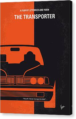 No552 My The Transporter Minimal Movie Poster Canvas Print by Chungkong Art